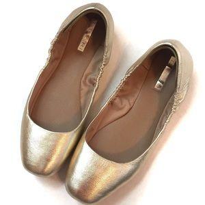 bd1805a5742 Tahari Zorel gold metallic ballet flats